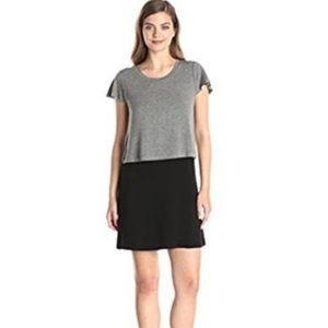 NWT Kensie Gray Black Jersey Dress Small
